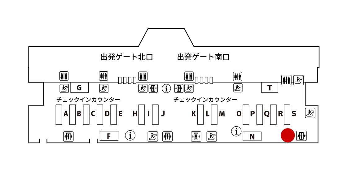 ANAアメックス・成田2 JALABCカウンター