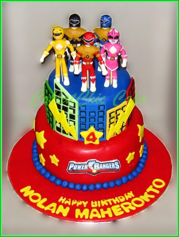 Cake Power Rangers NOLAN 15 cm dan 12 cm