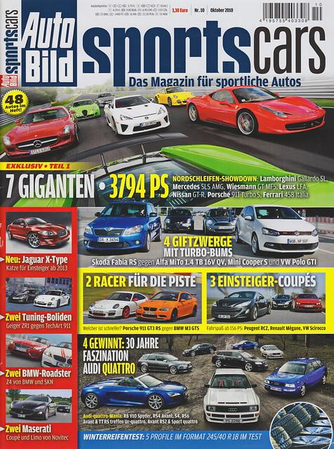 Auto Bild Sportscars 10/2010