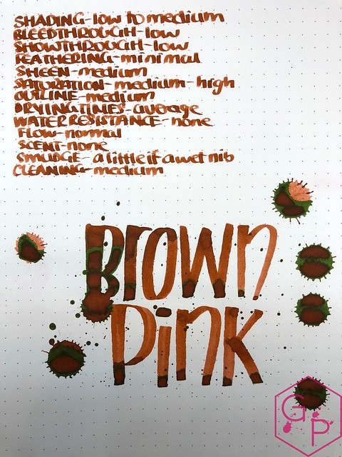Krishna Inks Brown Pink Fountain Pen Ink Review @PenChalet 11