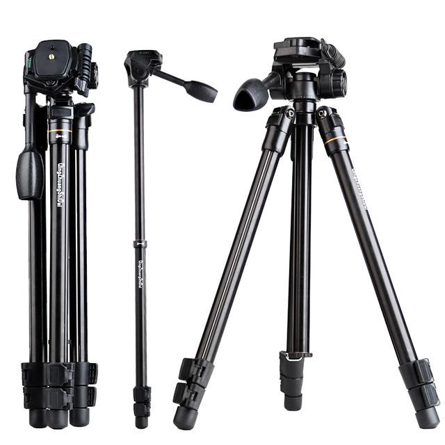 Chân máy ảnh tripod du lịch QZSD Q109 có chân monopod tháo rời và đầu pan head