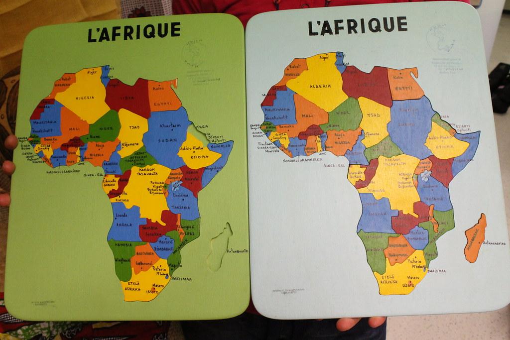 Rekvisiittaa Afrikan Kartta Palapelit Jyvaskylan Seurakunta