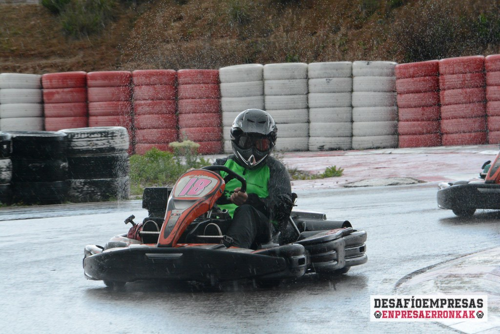 Karting, una jornada pasada por agua