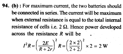 NEET AIPMT Physics Chapter Wise Solutions - Current Electricity explanation 94