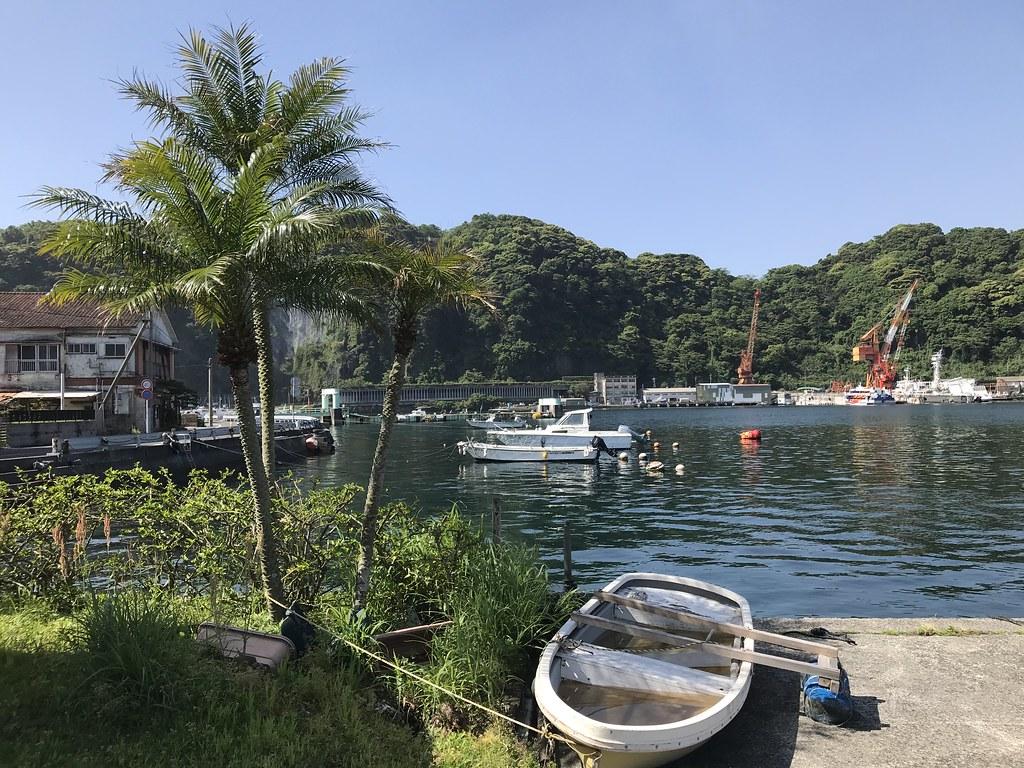 山川港からスタート