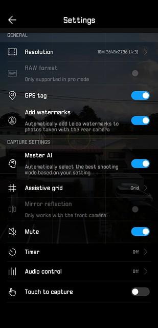 EMUI 8.1 - Camera - Settings