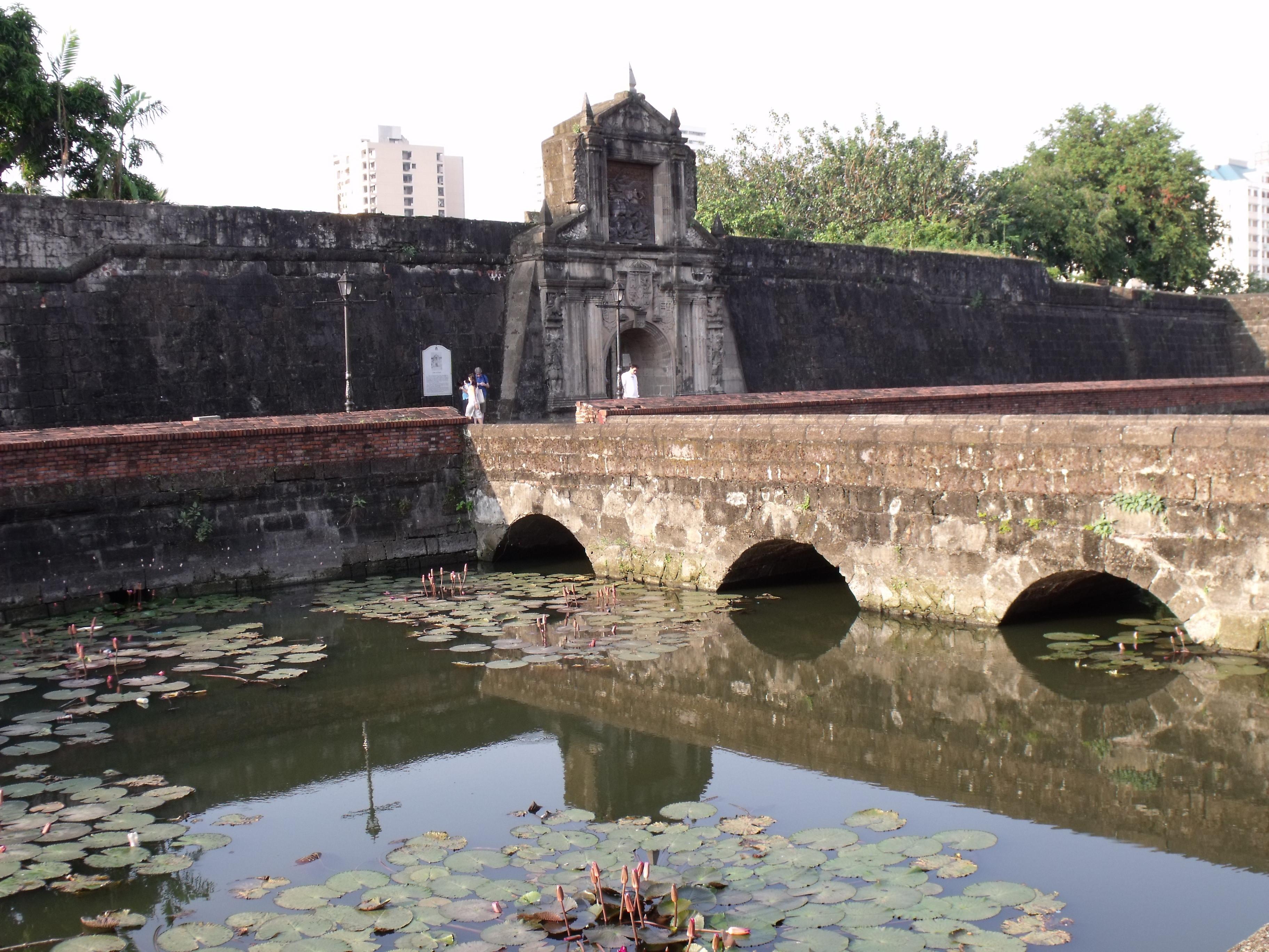 Entrance of Fort Santiago, Intramuros, Manila. Photo taken on December 25, 2009.