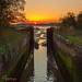 Old Lock Sunset II by inkslinger15