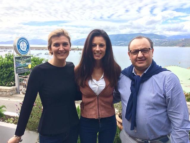 Daniela Ferolla con il sindaco e con Rosa De Sanctis