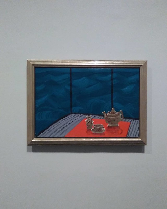 Breakfast at Malibu, Sunday, 1989 #newyorkcity #newyork #manhattan #metmuseum #davidhockney #hockney #malibu #latergram