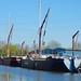 Sailing barges at Tottenham Hale, London