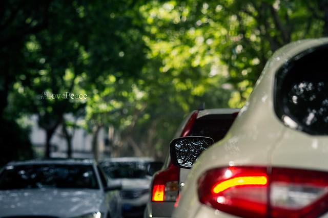 Morning traffic #shanghai #lovepeace #nikon #nikkor #d3s #135mmf2dc #streetphotograph #sunnyday