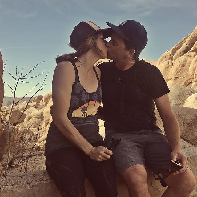 Today has been a long day and it's not over yet.  Take me back to Joshua Tree where we casually remembered it was our 17-year dativersary while out on a hike. I'm so glad we fell in love all those years ago. Photo by Hallee. 💗