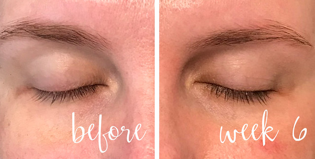 before and week 6 lashes no makeup