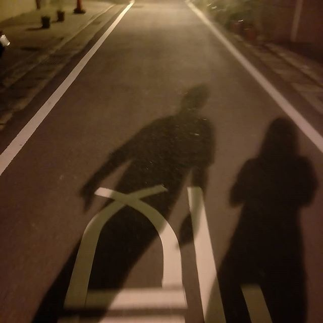 20180426 跟老戴夜間散步 39min / 3.3km 今天涼涼的 好舒服啊 #有運動沒在怕的 #運動使人開心 #夫妻一起動