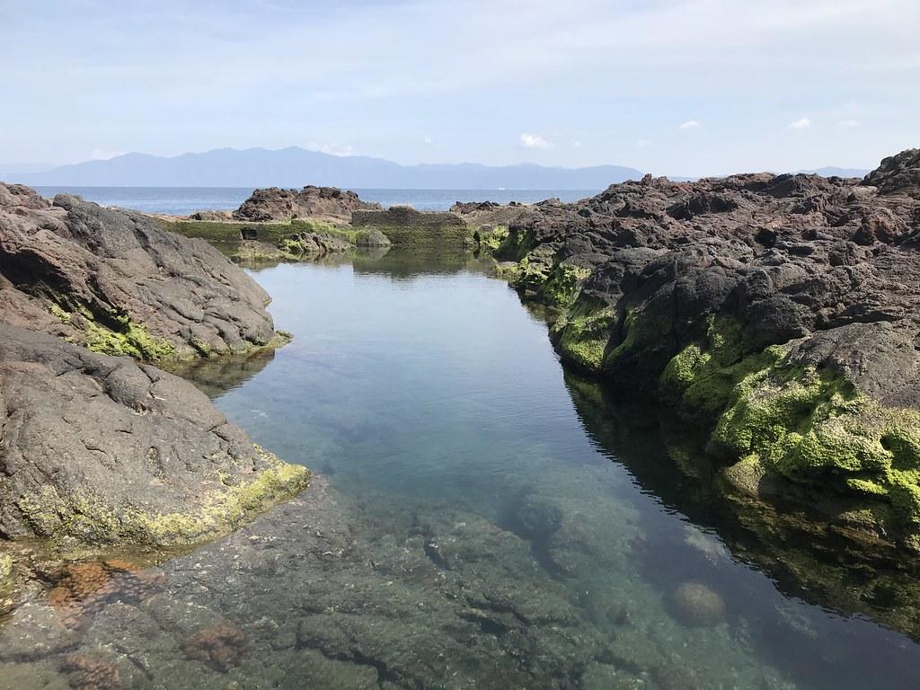 岩礁内の水たまり