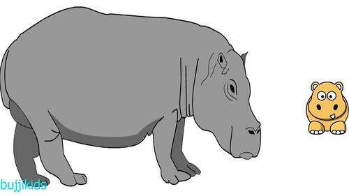 , How to Draw Hippo for Kids | Learn to Draw | Hippo Line Drawing and Drawing Ideas, My cartoon Blog, My cartoon Blog