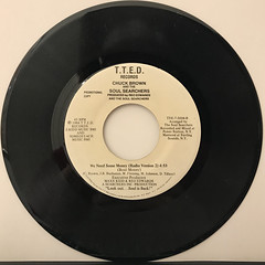 CHUCK BROWN AND THE SOUL SEARCHERS:WE NEED SOME MONEY(RECORD SIDE-B)