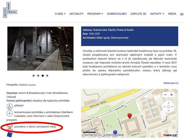 Open House Praha 2018. Invalidovna