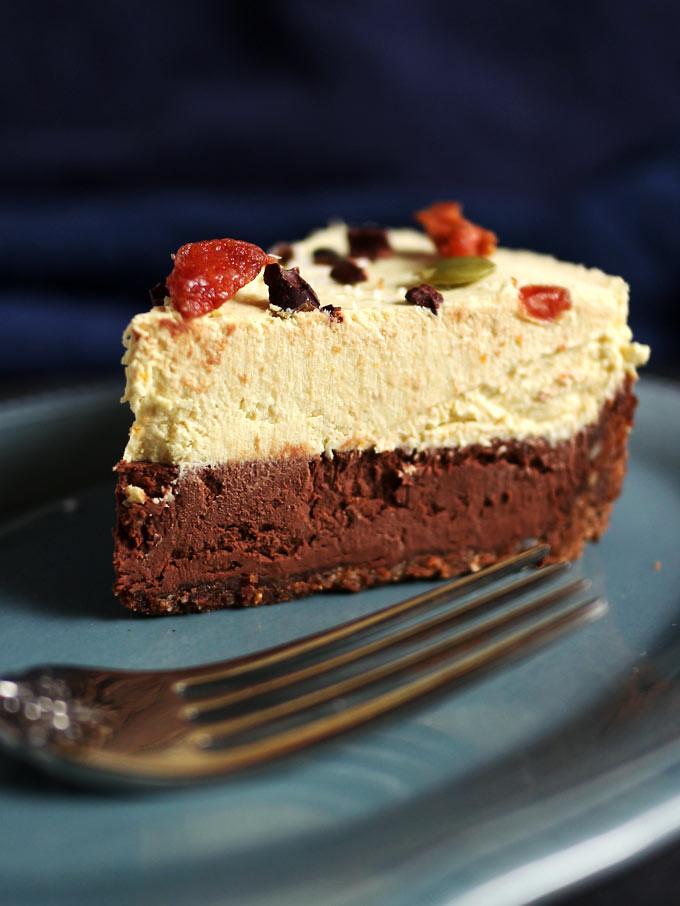 全素橙香巧克力起司蛋糕 vegan-double-chocolate-orange-cheesecake (7)