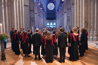 Pomona College Glee Club at the National Cathedral in Washington, D.C., May 24, 2015