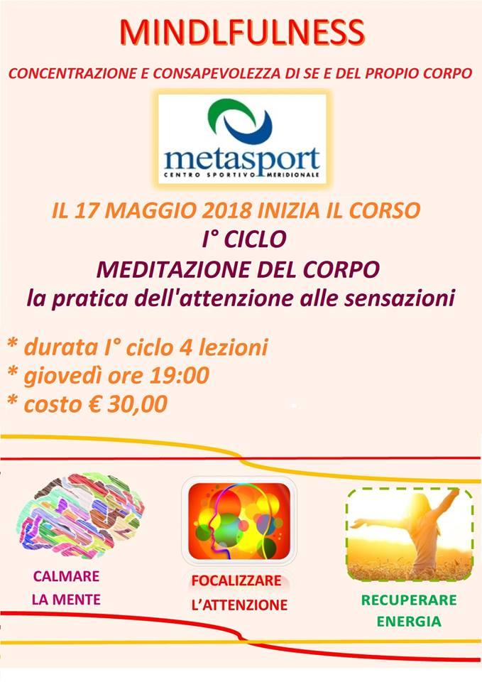 Corso mindfullness metasport