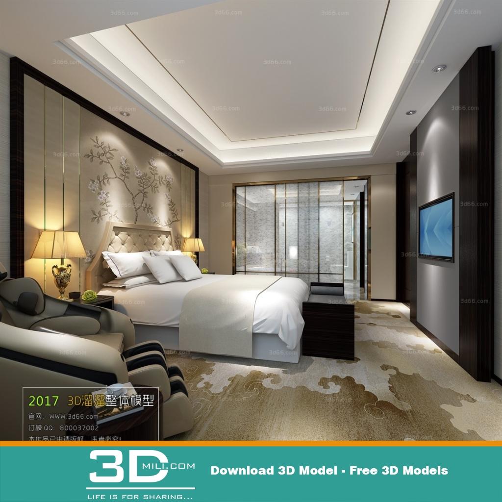 3d max bedroom models free download