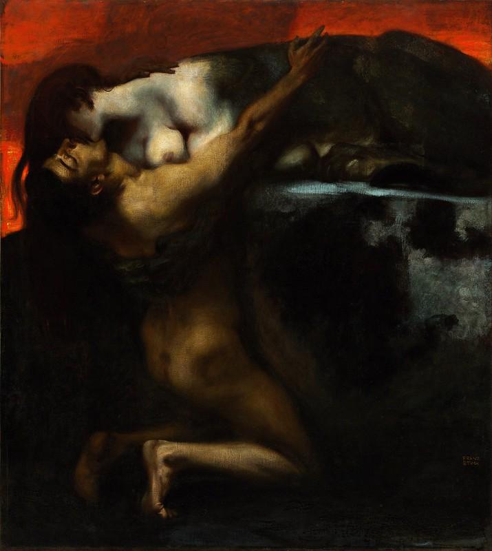 Franz von Stuck - The Kiss of the Sphinx