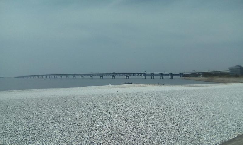 Marble Beach and bridge to Kansai airport, Rinku, Osaka