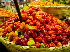 Chillis at the Merced Mercado
