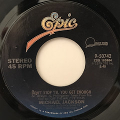 MICHAEL JACKSON:DON'T STOP 'TIL YOU GET ENOUGH(LABEL SIDE-A)