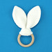 Baby Teething Ring with Rabbit Ears (Baby Bijtring met Konijnenoren)