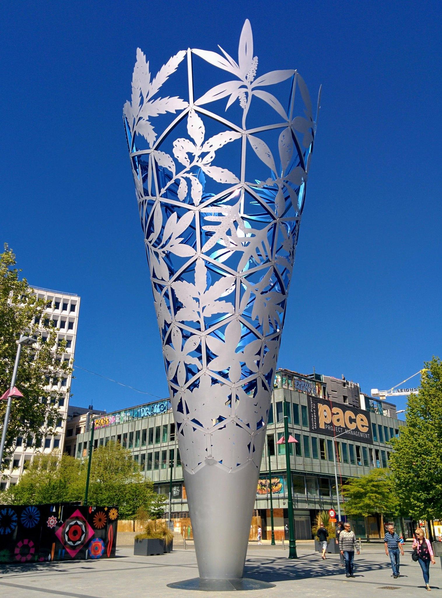 A large sculpture in Christchurch