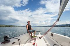 Sailing on Lake Zurich
