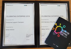 shortlisted for national enterprise support award 2018
