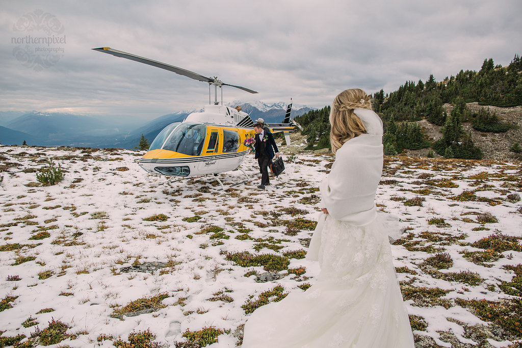 Heli-wedding on Mount Terry Fox Robson Helimagic
