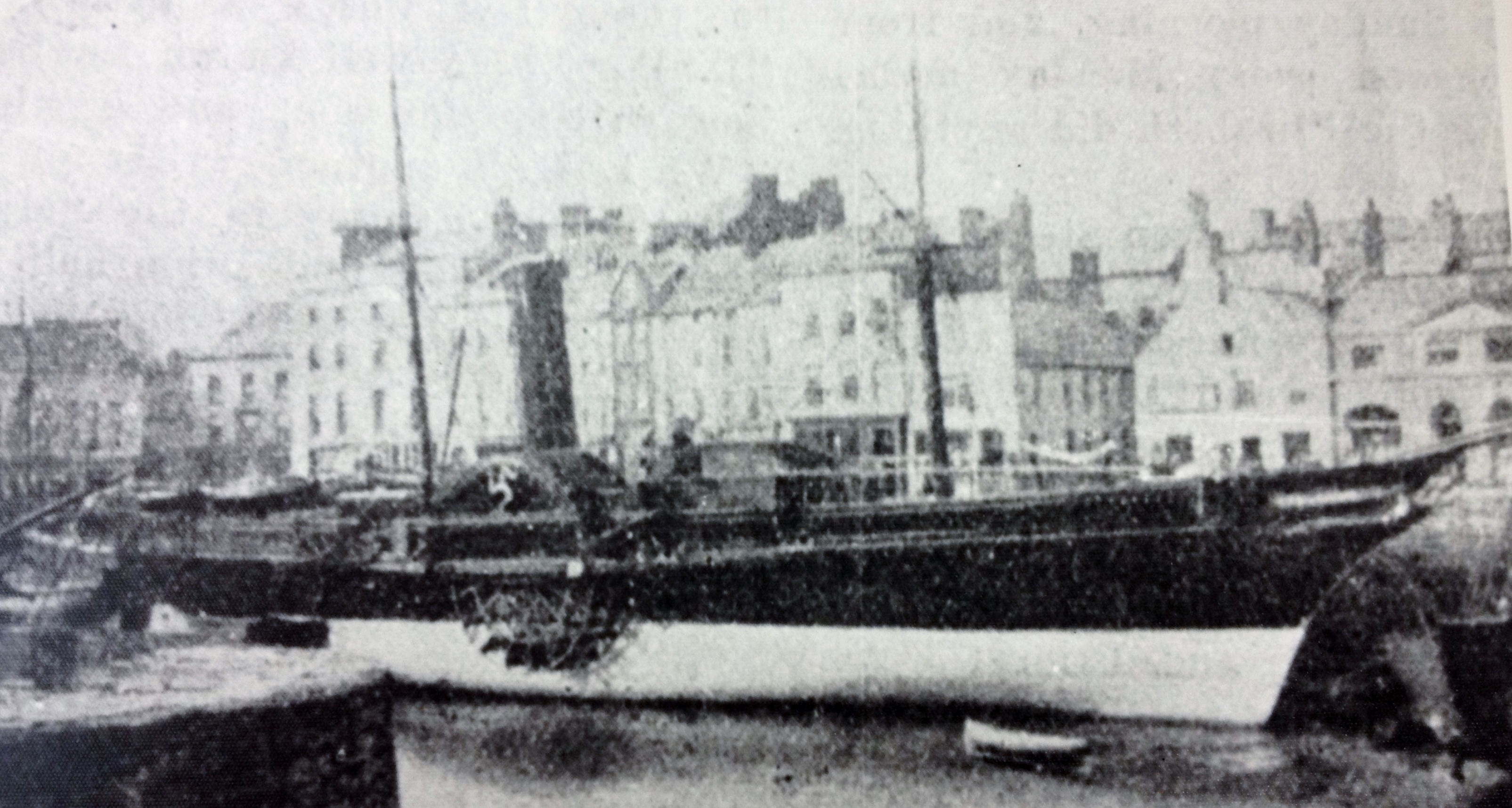 Tynwald berthed at the Coffee Palace Berth in Douglas, Isle of Man. Unknown photographer and date.
