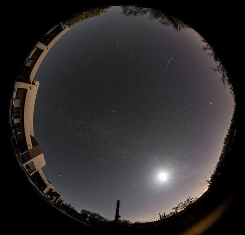 Eta Aquariid meteor in Tucson AZ sky