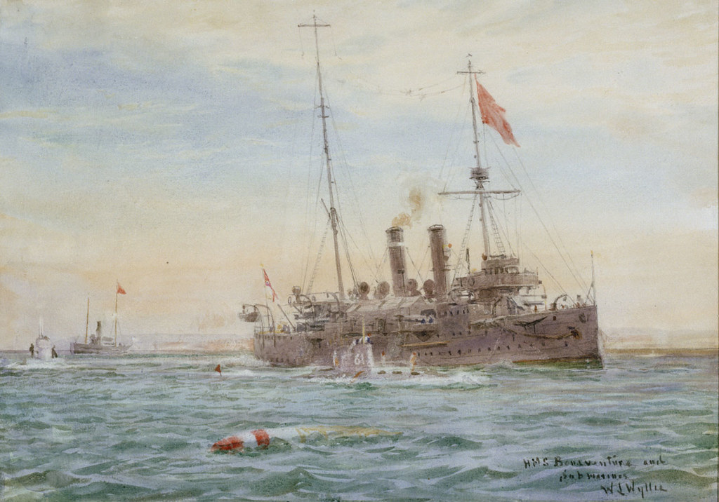 """HMS Bonaventure and submarines"" (1911-14)"