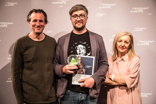 CE18 - awards ceremony // Patrick Bartos / Alexej Sigalov / Christine Dollhofer // photo © Christoph Thorwartl // subtext.at