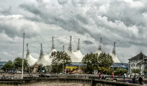 Minehead - big top and dramatic clouds