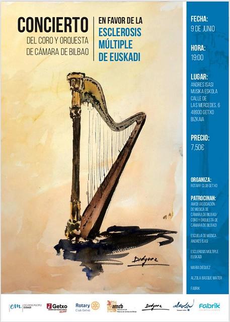 Concierto Solidario a favor de la Fundación Esclerosis Múltiple en Andrés Isasi en Getxo