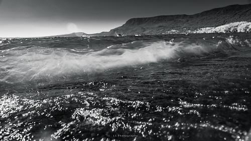 pucon ixregión chile cl kiltro agua water wave ola lake lago landscape montaña mountain paisaje cielo sky sun sol