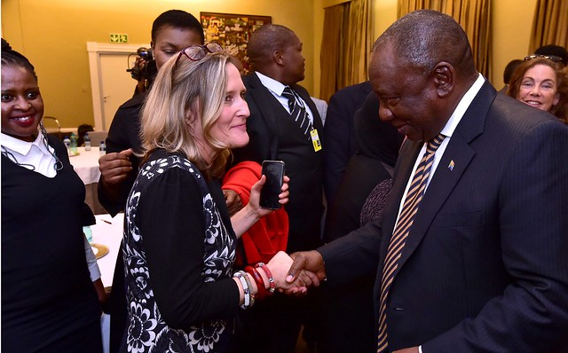 President Cyril Ramaphosa meets, Nikon D4S, AF Nikkor 28mm f/2.8D