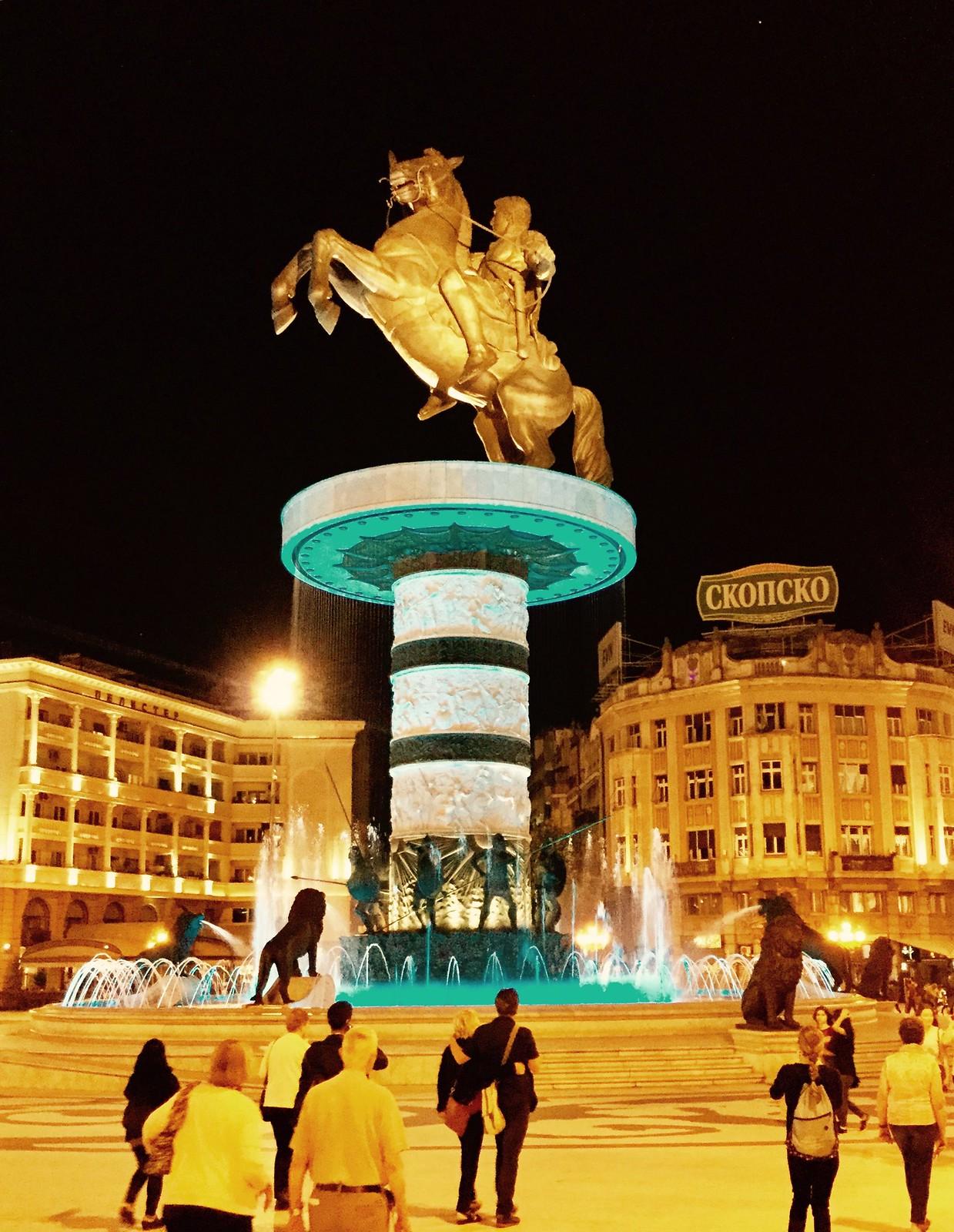 201705 - Balkans - Statue of Alexander the Great - 92 of 101 - Macedonia Square - Skopje, Skopje, May 30, 2017