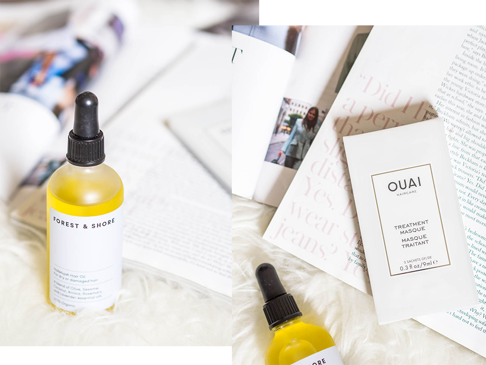 hair-routine-for-dry-wavy-hair-forest-and-shore-oil-the-ouai-masque
