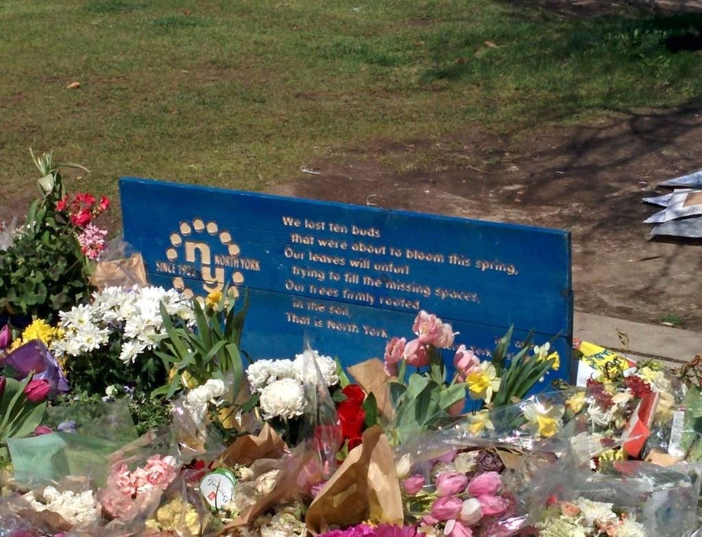 Memorial (2) #toronto #northyork #mellastmansquare #yongeandstrong #poem #inmemoriam