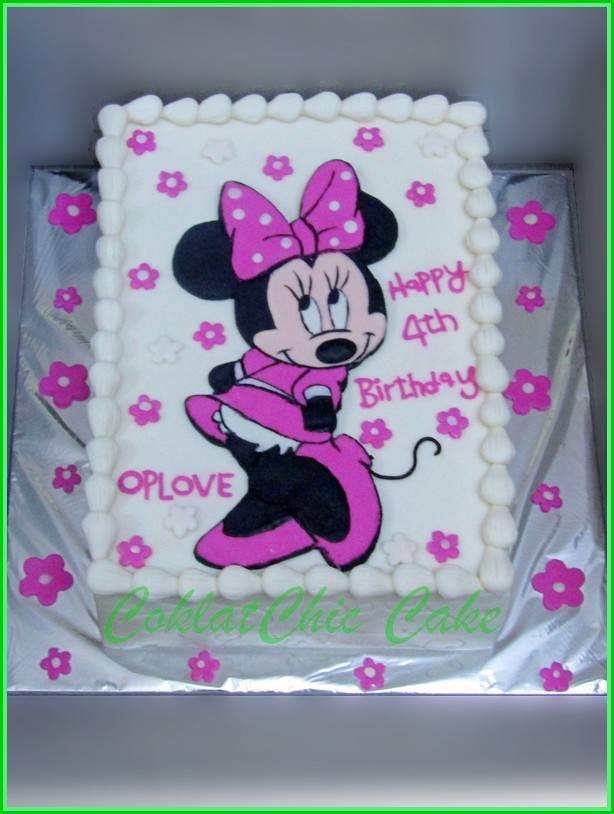 Cake Minnie Mouse OPLOVE 15x22 cm