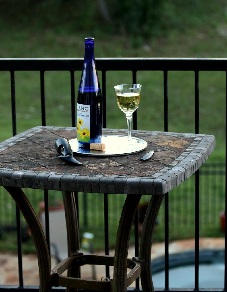 Blue-bottled Bliss on the Balcony