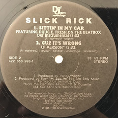 SLICK RICK:SITTIN' IN MY CAR(LABEL SIDE-B)